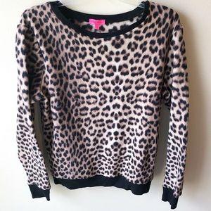 Betsey Johnson Animal Print Fleece Pullover